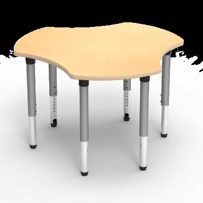 5000 Series Table with Hub Shape Top and Adjustable Steel Legs
