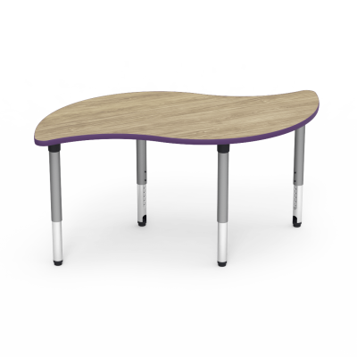 5000 Series Table with Leaf Shape Top and Adjustable Steel Legs