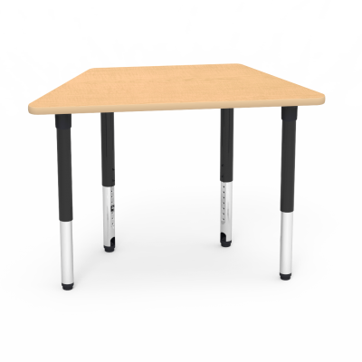5000 Series Table with Trapezoid Top and Adjustable Steel Legs