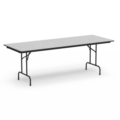 """6000 Series Table with Rectangle Top"""" and Folding Steel Legs"""
