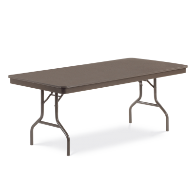 Core-a-Gator Series Rectangle Table with ABS Plastic Top and Folding Steel Legs