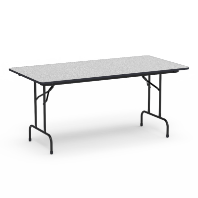 "6000 Series Table with Rectangle Top"" and Folding Steel Legs"