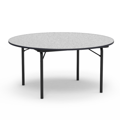 """62000 Series Table with Round"""" Top and Folding Steel Legs"""