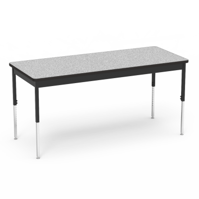 "6800 Series Table with Rectangle Top"" with Steel Apron and Adjustable Steel Legs"