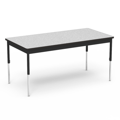 "6800 Series Table with Rectangle Top"" with Steel Apron and  Adjustable Steel Legs on Casters"