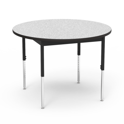 """6800 Series Table with Round Top"""" with Steel Apron and  Adjustable Steel Legs"""