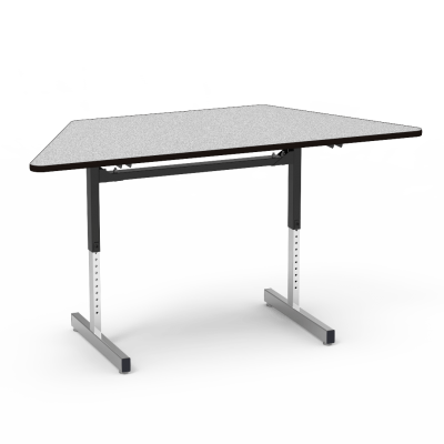 "8700 Series Table with"" Trapezoid Top and Adjustable Steel Legs"
