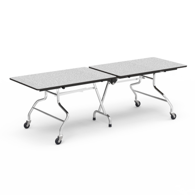 MT Series Mobile Table with a rectangular top and steel frame with 4 casters.