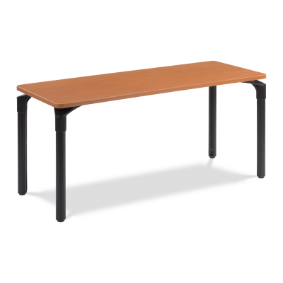 Plateau Series Table with Rectangle Top and Steel Legs