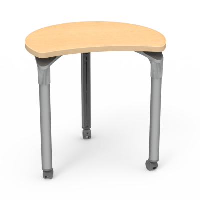"Plateau Series Table with"" Semi-Shape Hoop Top and Steel Legs on Casters"