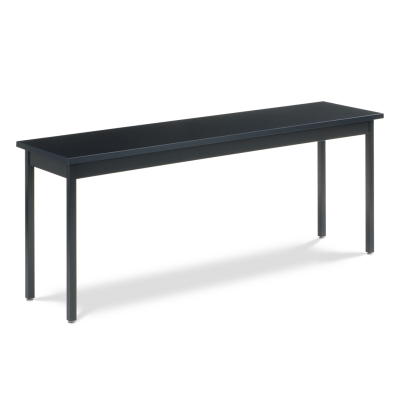 Science Table with Rectangle Chemsurf Top and Steel Apron and Steel Legs