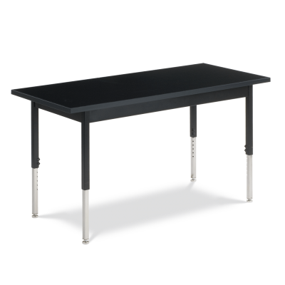 Science Table with Rectangle Chemsurf Top and Steel Apron and Steel Adjustable Legs