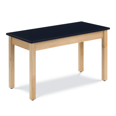 Science Table with Rectangle Epoxy Resin Top and Wooden Table Frame