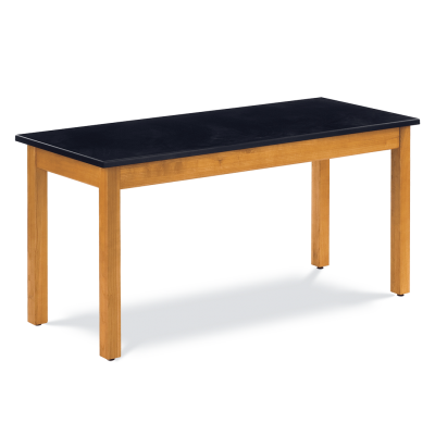 Science Table with Wood-Frame and Rectangle Epoxy Resin Top
