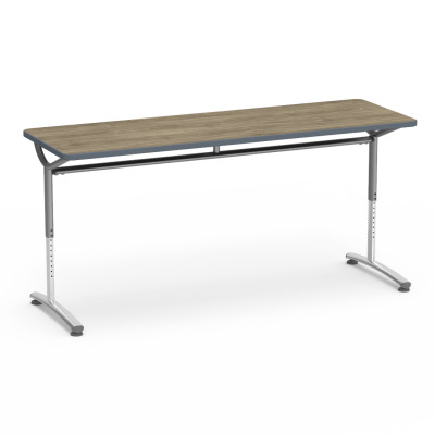 TEXT Series Table with Rectangle Top and Adjustable Steel Legs