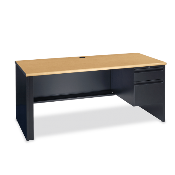 53 Desk With Right Hand Pedestal Sturdy And Dependable Discover It ...